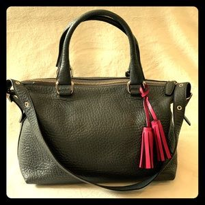 Coach Legacy Textured Leather Molly Satchel Gray